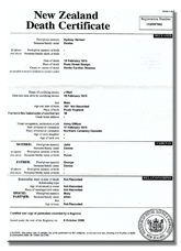 Get a new zealand certificate birth marriage death order online death certificate yelopaper Images
